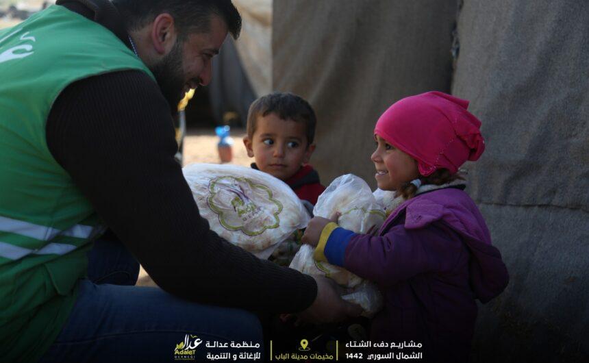 توزيع الوجبات الغذائية على أهلنا المحتاجين